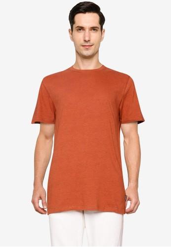 Springfield orange Textured Short-Sleeved T-Shirt B3CCCAA68B23C8GS_1