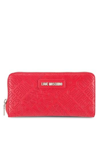 Love Moschino red Portafogli Embossed Wallet LO478AC0SELLMY_1