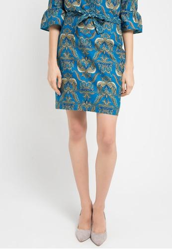 Batik Solo blue Regular Print Skirt BA657AA0WFMFID 1 f93397b4a5