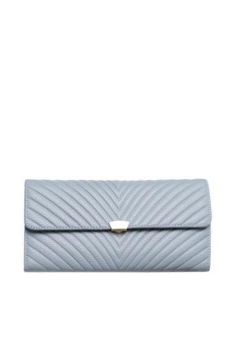 Twenty Eight Shoes blue VANSA Top Layer Cowhide Bi-Fold  Long Wallet VBW-Wt009L EE162ACD732110GS_1