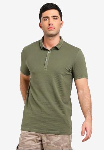Brave Soul green Shield Polo Shirt A2F7AAA628AB2DGS_1