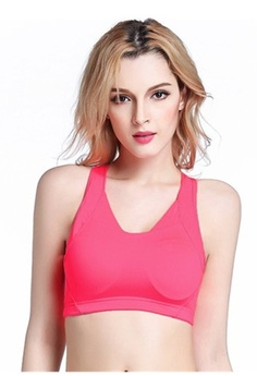 bfae00276747d Psst... we have already received your request. YSoCool. Women s Wirefree  Padded Cross Back Sports Bra