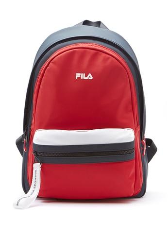 FILA red Color Block Backpacks ABF29AC9B5C7FEGS_1