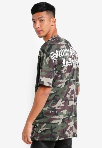 Cotton On 多色 短袖迷彩長版T恤 59057AA65A1802GS_1