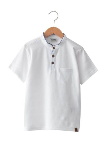 LC Waikiki white Casual Polo Shirt 653FCKAD2CC988GS_1