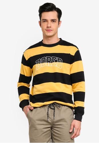 Penshoppe yellow Graphic Sweatshirt BF487AA95D1B3EGS_1