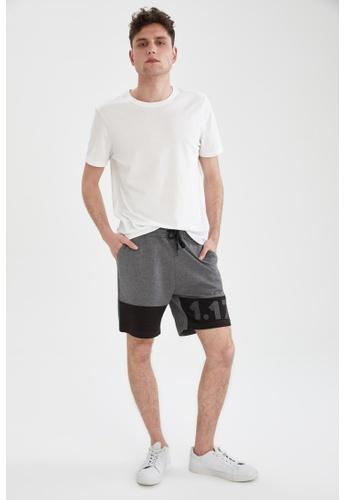 DeFacto grey Slim Fit Sweatshirt Bermuda Shorts 8F77BAAEA62604GS_1
