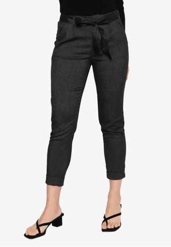 ONLY grey Rita Loose Belt Ankle Pants 393B9AA749E298GS_1