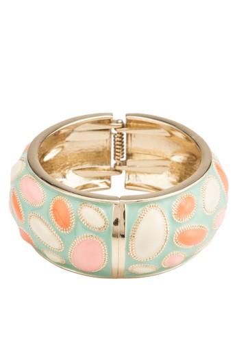 彩色點點搪瓷彈簧手鐲,esprit 香港 飾品配件, 手鐲 & 手環