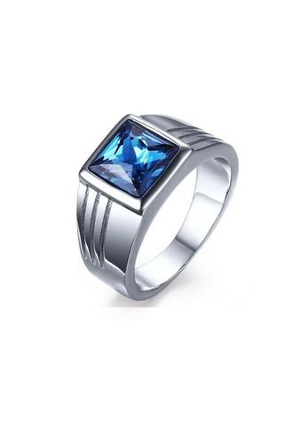 ADORA blue Stainless Steel Ring 2C00EAC6BDBCA4GS_1