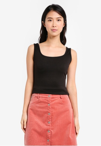 b24e8492c9ce9 Shop ZALORA BASICS Essential Square Neck Cami Top Online on ZALORA ...
