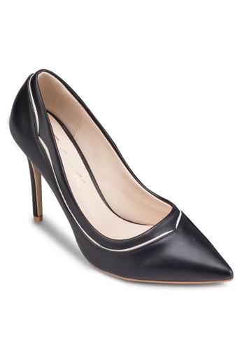 esprit taiwan拼色尖頭高跟鞋, 女鞋, 厚底高跟鞋