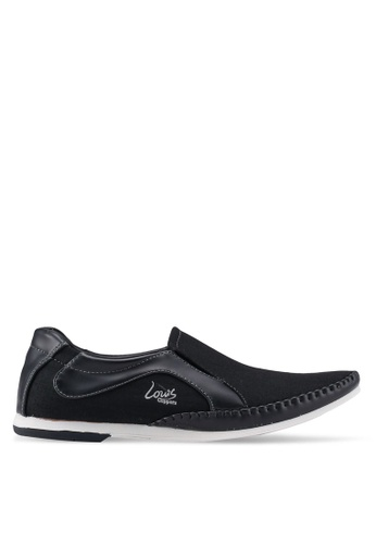 Louis Cuppers black Slip-On Sneakers 8AD89SHECB5484GS_1