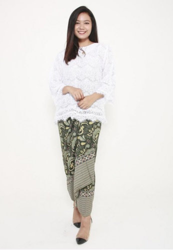 Naphthys Collection green and multi Batik Skirt/Sarong 67689AA9ADC928GS_1
