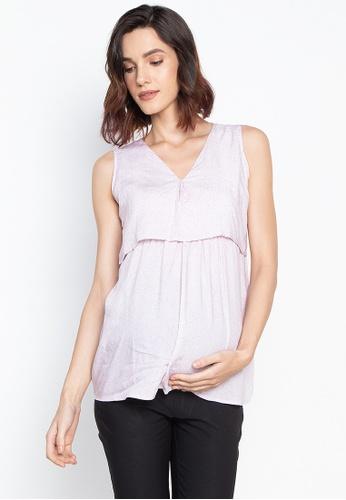 29f444ecd7b26 Shop BUNTIS Athena Nursing Maternity Blouse Sleeveless Online on ZALORA  Philippines