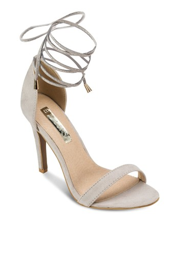 Oesprit chinantaro 繞踝繫帶高跟涼鞋, 女鞋, 鞋