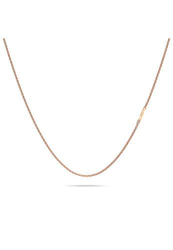 Bullion Gold gold BULLION GOLD Bold Alphabet Letter Initial Charm Necklace in Rose Gold Tone - I 0B2FEACB9E6CA1GS_1