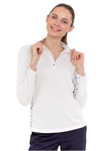 Huitieme white HUITIÈME DRI FIT FLORAL SPORTS WHITE LONG SLEEVE TEE. BD270AA81B81A8GS_1