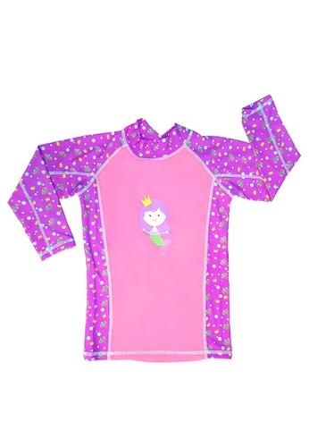 TeePeeTo pink and multi Mermaid UV+50 Long Sleeve 7BD72KA08D4894GS_1