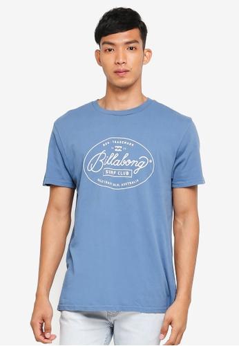 Billabong 藍色 短袖印花T恤 DBEE0AA3E79CB8GS_1
