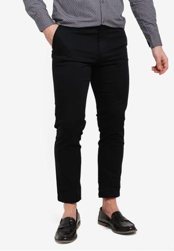 Sisley black Basic Chino Trousers E894AAA3AC4811GS_1