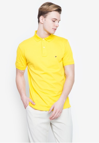 Tommy Hilfiger yellow Wcc Tommy Regular Polo Shirt C418CAA2D569F9GS_1