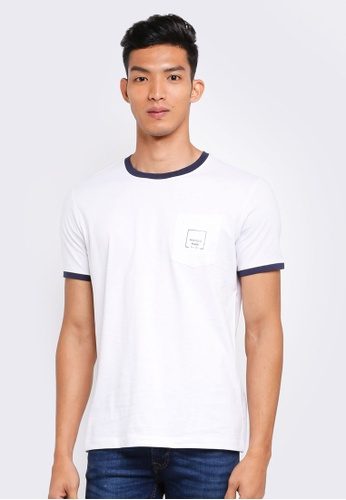 MANGO Man white Logo Pocket T-Shirt AD6A6AAEA0E00DGS_1