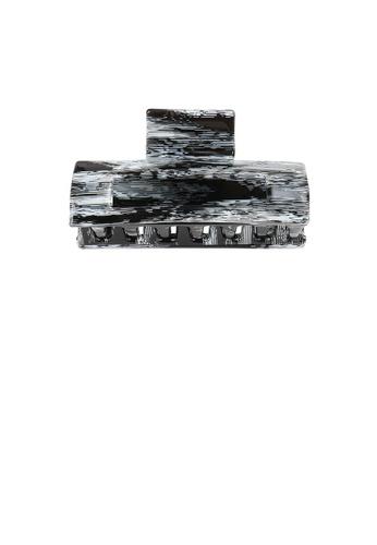 Glamorousky black Simple Fashion Black and White Horizontal Striped Geometric Hair Slide B927CACBF1D7FCGS_1