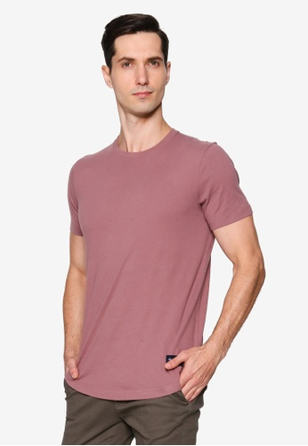 Abercrombie & Fitch red Short Sleeves Curved Hem Tee F717FAA6C374ACGS_1