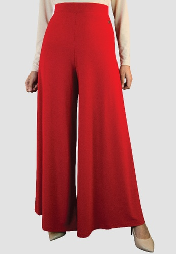 Zaryluq red Palazzo Pants in Rouge Red 967D4AAB296095GS_1