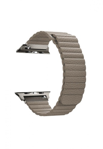 Promate beige Lavish-42 Beige High Quality Fiber Strap for 42mm & 44mm Apple Watch 112D9ACC88B893GS_1