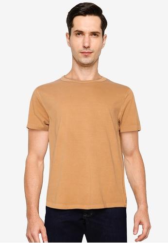 GAP brown Short Sleeve Curved Hem Tee 0FB1CAAAF18BE6GS_1