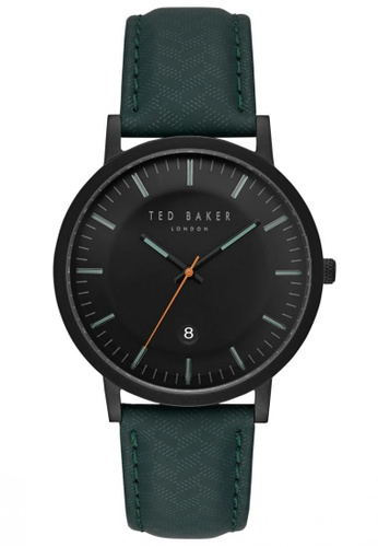 b709341ed4e146 Buy TED BAKER Ted Baker DAVID - Dark Grey Dial with Dark Blue Green Leather  Strap   Green Accents (TE15193003) Online on ZALORA Singapore