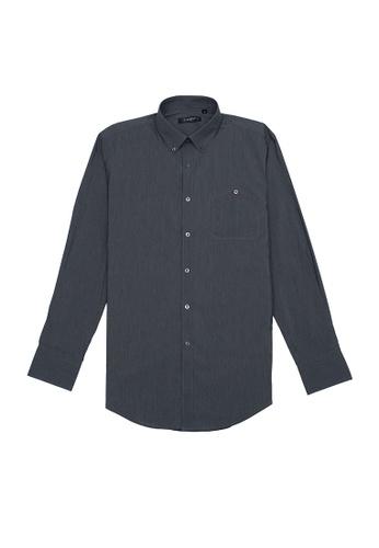 Goldlion grey Goldlion Casual Long-Sleeved Shirt 23D15AA61DB8C7GS_1