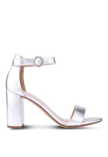 Dorothy Perkins silver Silver Shimmy Sandals E1646SHF71B875GS_1