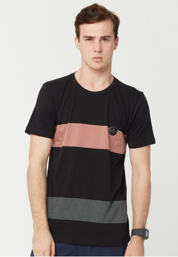 Rip Curl Double Stripe Men Tee - Black