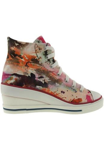 Maxstar Maxstar Women's 7H Zipper Fabric Low Wedge Heel Sneakers US Women Size MA164SH44PWLSG_1