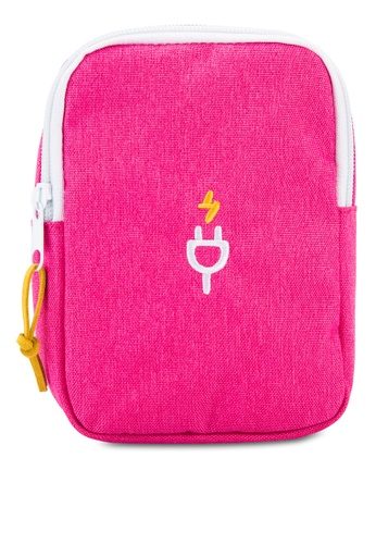 Bagstationz pink Travel Gadget/Power Bank Pouch BA607AC77LRAMY_1