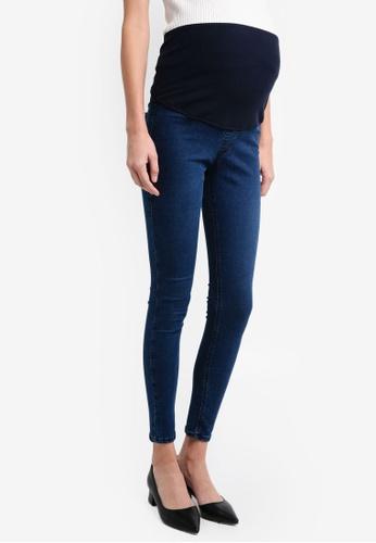 TOPSHOP blue Maternity Joni Jeans TO412AA0T0WMMY_1