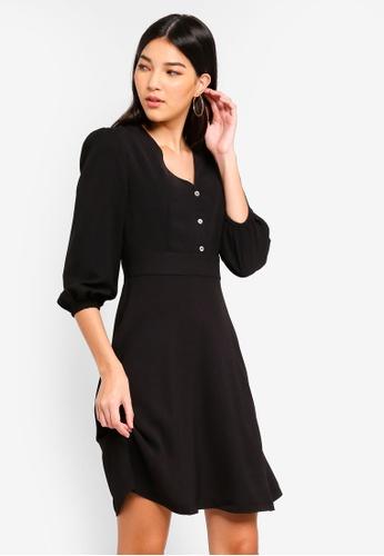 9c0e92d57d6d Buy ZALORA Fit And Flare Wrap Dress Online on ZALORA Singapore