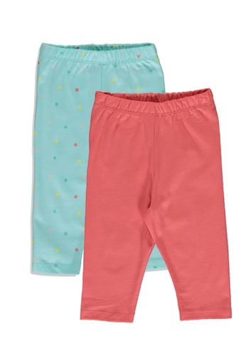LC Waikiki green 2-Pack Baby Girl's Pyjamas Bottom 8E055KA047D435GS_1