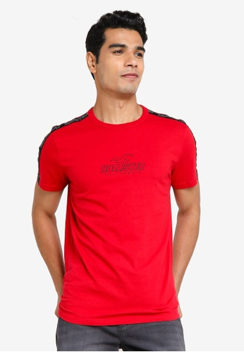 Hollister red Perspective Ombre T-Shirt 829C9AAC83C4C4GS_1
