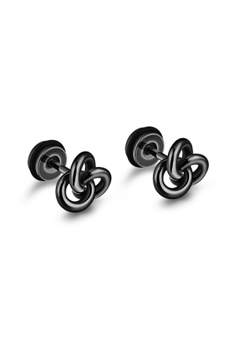ADORA black Stainless Steel Black Earrings 98847ACCC2D8E6GS_1