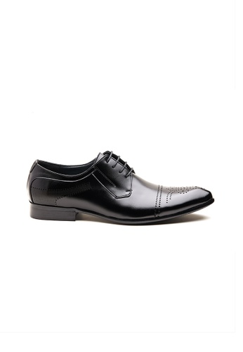 Kings Collection black Bryson Leather Shoes A8681SH9706D00GS_1