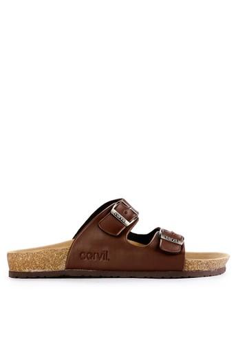 CARVIL brown Carvil Sandal Footbed Man Jaden-02 Brown 27BA5SH7419109GS_1