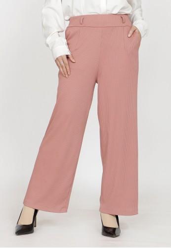 ZAHRA SIGNATURE pink Kulot Spandex Knit A5771AA4C77790GS_1