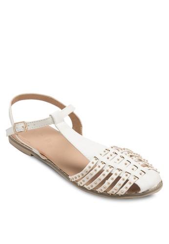 Charlotte 鉚釘esprit女裝護趾多帶涼鞋, 女鞋, 鞋