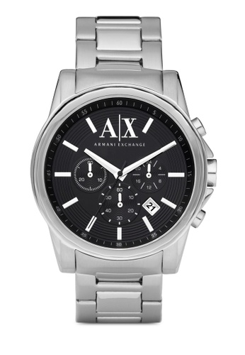 Armani Exchange silver Silver Steel/ Black Armani Exchange Outerbanks AX2084 AR162AC59AEEMY_1
