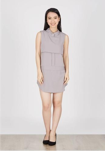 Berrybenka Label grey Iegna Shirt Dress In Light Grey 606EBAAABE86F7GS_1
