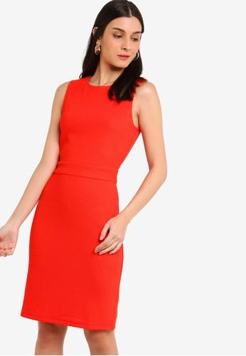 ZALORA pink Sleeveless Sheath Dress 506ABAAF0F0F32GS_1